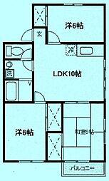[テラスハウス] 神奈川県川崎市高津区千年 の賃貸【/】の間取り