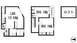 [テラスハウス] 兵庫県伊丹市荒牧1丁目 の賃貸【/】の間取り