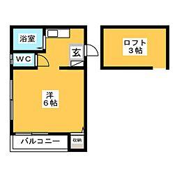 グレイス吉塚[1階]の間取り