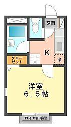 東京都江戸川区西篠崎1丁目の賃貸アパートの間取り