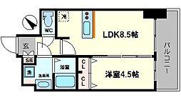 プレサンスOSAKA DOMECITY ワンダー 13階1LDKの間取り