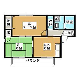 セジュール・ピア[1階]の間取り