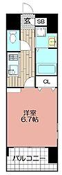 エンクレスト御供所(407)[407号室]の間取り