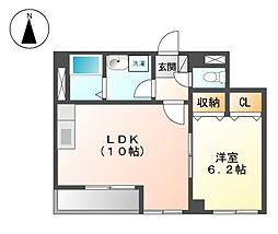 CASA NISHIKAWA[2階]の間取り
