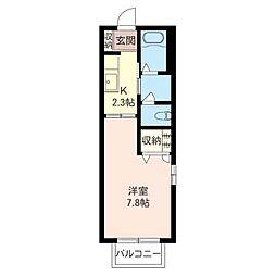 プログレスB[2階]の間取り