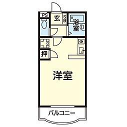 ジョイライフマンションA 2階ワンルームの間取り