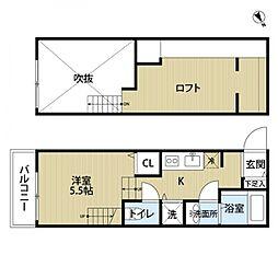 BAU HAUSE 〜バウハウス〜[2階]の間取り