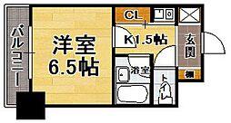 福岡県福岡市中央区高砂1の賃貸マンションの間取り