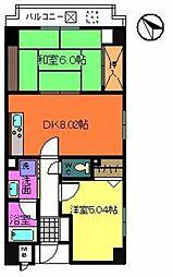 エミネスアーク[4階]の間取り