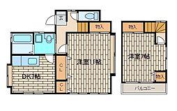 [一戸建] 東京都町田市森野5丁目 の賃貸【/】の間取り