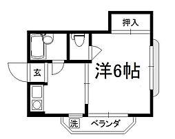 ブライトハウス[301号室]の間取り