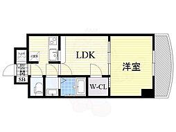 Osaka Metro御堂筋線 新大阪駅 徒歩5分の賃貸マンション 9階1LDKの間取り