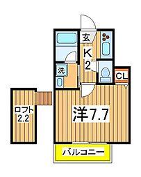 フラット13[1階]の間取り