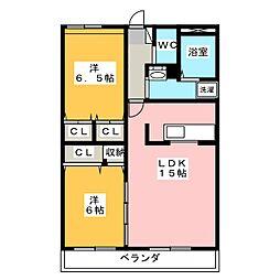 Wingland21[3階]の間取り