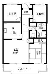 エストマノワール土田[2階]の間取り