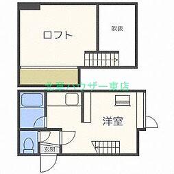 北海道札幌市東区北二十七条東16丁目の賃貸アパートの間取り