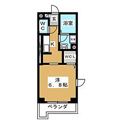 ヒルサイド新横浜 3階1Kの間取り