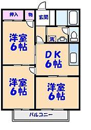シティアサヒI[101号室]の間取り