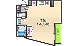 コモ阪南町[5階]の間取り