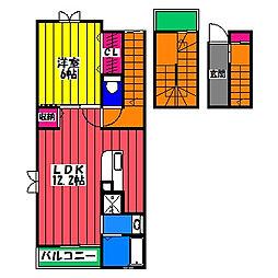 フリーデン11[3階]の間取り