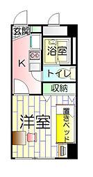 埼玉県八潮市大字大瀬の賃貸マンションの間取り