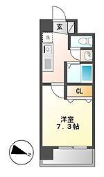 アレーズカシェート[9階]の間取り