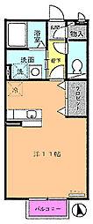 ガーデンクレール[2階]の間取り