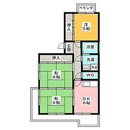 マンションH・U[3階]の間取り