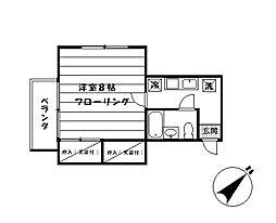 メゾンKOEI[102号室]の間取り