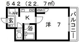 ユーコート21[301号室号室]の間取り