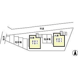 VILLA SEJOURE B[B101号室]の外観