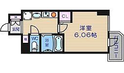 大阪府大阪市天王寺区生玉町の賃貸マンションの間取り