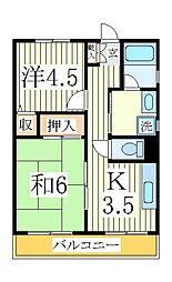 ラフィーヌ・松ヶ丘[1階]の間取り