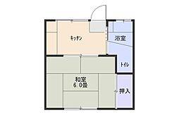 寿司一荘[102号室]の間取り