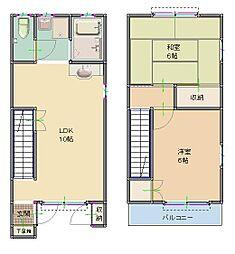 [テラスハウス] 東京都清瀬市中清戸4丁目 の賃貸【/】の間取り