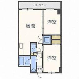 北海道札幌市東区北三十三条東5丁目の賃貸マンションの間取り