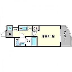 SERENiTE高井田[10階]の間取り