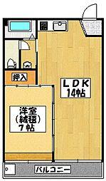 マンションハヤシビル[3階]の間取り