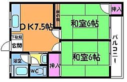 東京都調布市西つつじケ丘4丁目の賃貸マンションの間取り