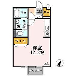 広島県三原市明神3丁目の賃貸アパートの間取り