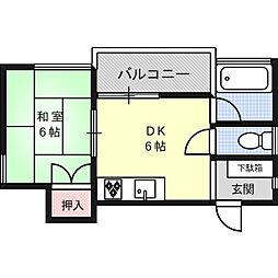 トーヨーハイツ[2階]の間取り