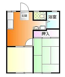 千葉県市川市南行徳3の賃貸アパートの間取り