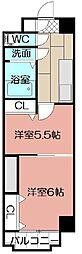 中津口センタービル[603号室]の間取り