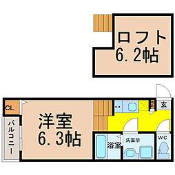 NAGOMI (ナゴミ)[1階]の間取り