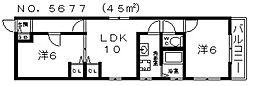 川崎マンション[3階]の間取り