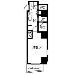 名古屋市営鶴舞線 塩釜口駅 徒歩3分の賃貸マンション 8階1Kの間取り