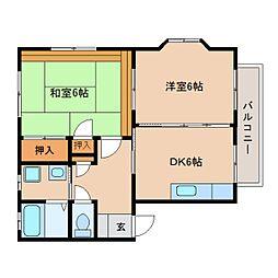 静岡県静岡市葵区北安東1丁目の賃貸アパートの間取り