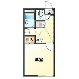 JR赤穂線 邑久駅 徒歩6分の賃貸アパート 2階1Kの間取り