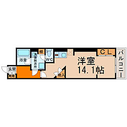 ロイジェント栄[9階]の間取り