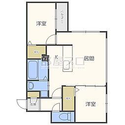 シティプラザN23[4階]の間取り